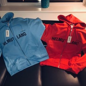 HELMUT LANG RED CAMPAIGN ZIP HOODIE *SOLD OUT* S/M